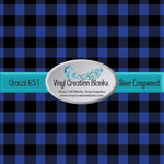 Blue Buffalo Plaid Vinyl 4' by 1' Roll