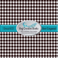 White and Black Buffalo Plaid Vinyl(Pattern Size Options)