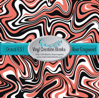 Coral Black and White Swirl Vinyl