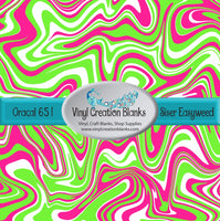 Pink and Lime Swirl Vinyl
