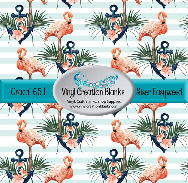 Flamingos and Anchors Vinyl