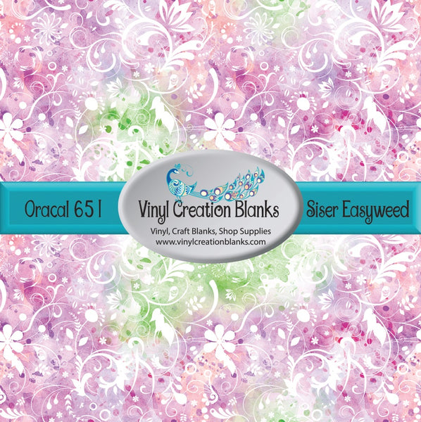 Floral Watercolor Vinyl