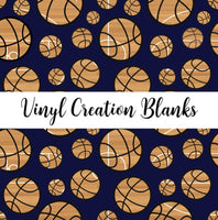 Court Pattern Basketballs on Navy Vinyl