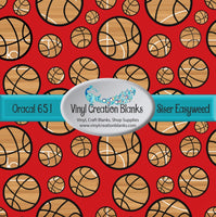 Court Pattern Basketballs on Red Vinyl