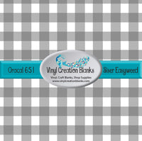 Gray Buffalo Plaid Vinyl
