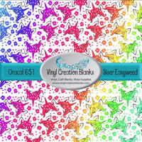 Bright Rainbow Gradient Unicorn Heads Vinyl