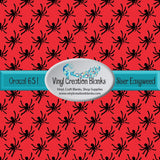 Red and black spider pattern printed self adhesive vinyl or heat transfer vinyl(HTV)