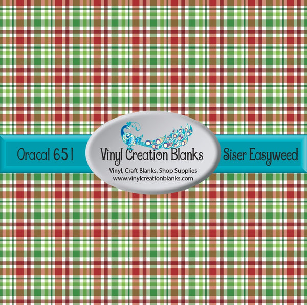Green Christmas Plaid Vinyl