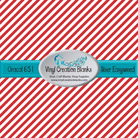 Red and White Peppermint Stripe Outdoor Vinyl or Heat Transfer Vinyl