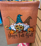 Fall Gnome Garden Flag