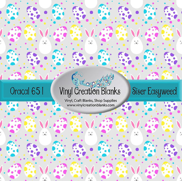 Polka Dot Bunny Easter Eggs Vinyl