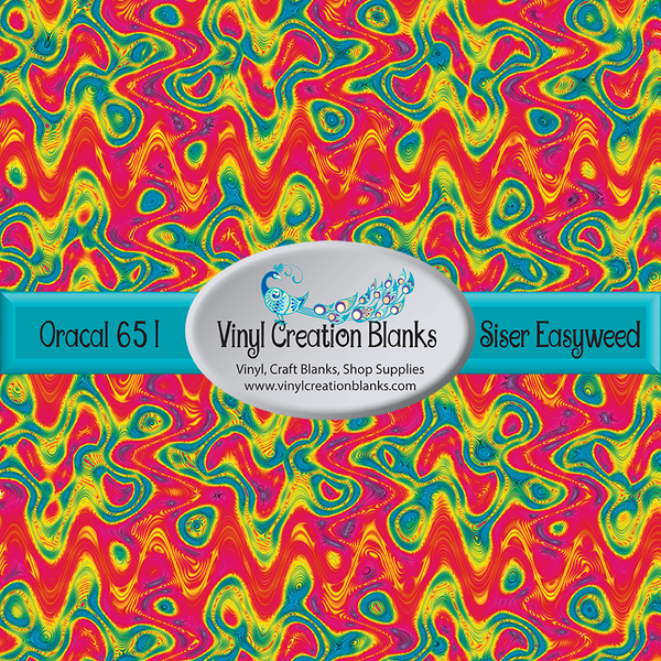 Groovy Pattern Outdoor Vinyl or Heat Transfer Vinyl
