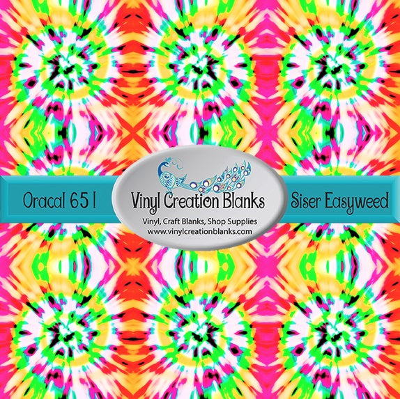 80's Remix Tie Dye Pattern Craft Vinyl for Vinyl Cutters