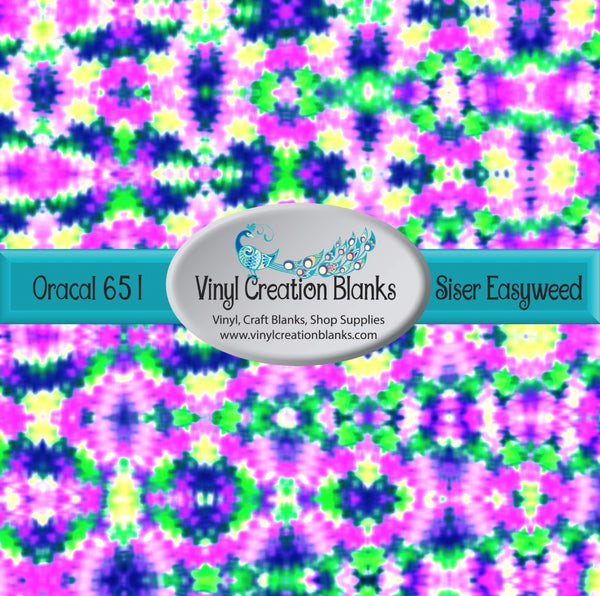 Abstract Watercolor Pattern Outdoor Vinyl or Heat Transfer Vinyl