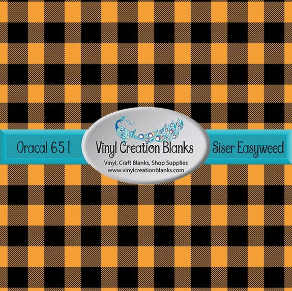 Amber and Black Buffalo Plaid Vinyl