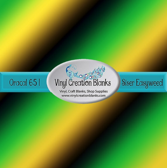 Green Yellow Black Ombre Pattern Outdoor Vinyl or Heat Transfer Vinyl for Vinyl Cutters