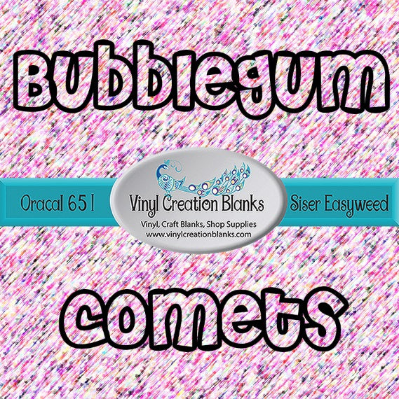 Bubble Gum Comets Pattern Vinyl