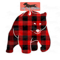 Buffalo Plaid Bear Digital File