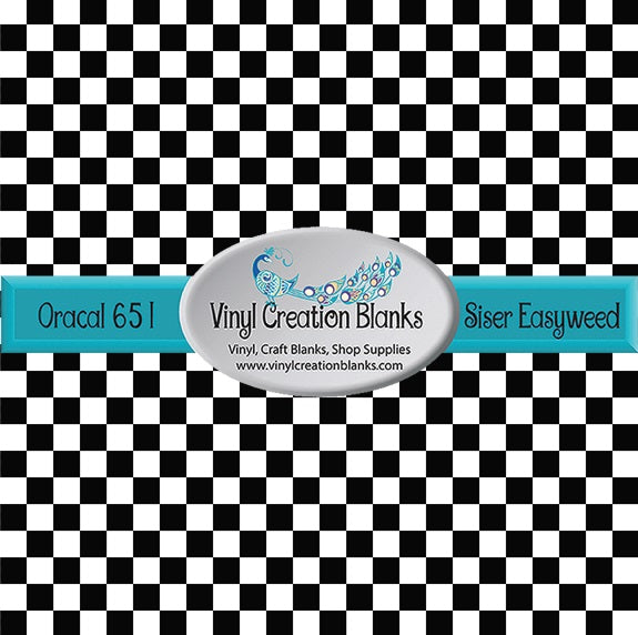 Checkerboard Pattern Self Adhesive Vinyl or Heat Transfer Vinyl