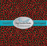 Red and Green Christmas Leopard Pattern Outdoor Vinyl or Heat Transfer Vinyl for All Vinyl Cutters