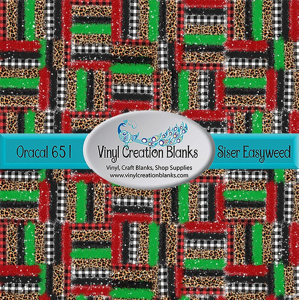 Patch Christmas Brush Stroke 1 Pattern Outdoor Vinyl or Heat Transfer Vinyl for All Vinyl Cutters