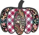 Cranberry Plaid, Paisley, and Floral Pumpkin HTV or Sublimation Transfer