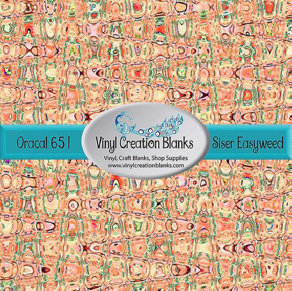 Abstract Orange Crush Pattern Outdoor Vinyl or Heat Transfer Vinyl