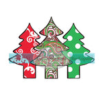 Paisley, Damask, and Polka Dot Patterned Christmas Tree Collage Transfer