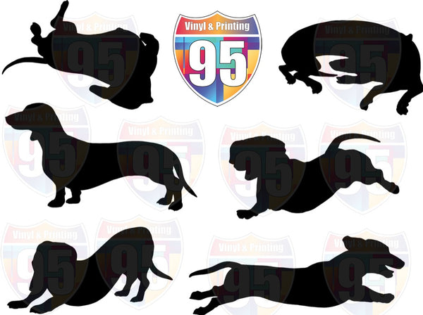 Daschund Silhouettes SVG Bundle Digital File