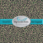 Distressed Green Leopard Pattern Permanent Vinyl or HTV for all Vinyl Cutters