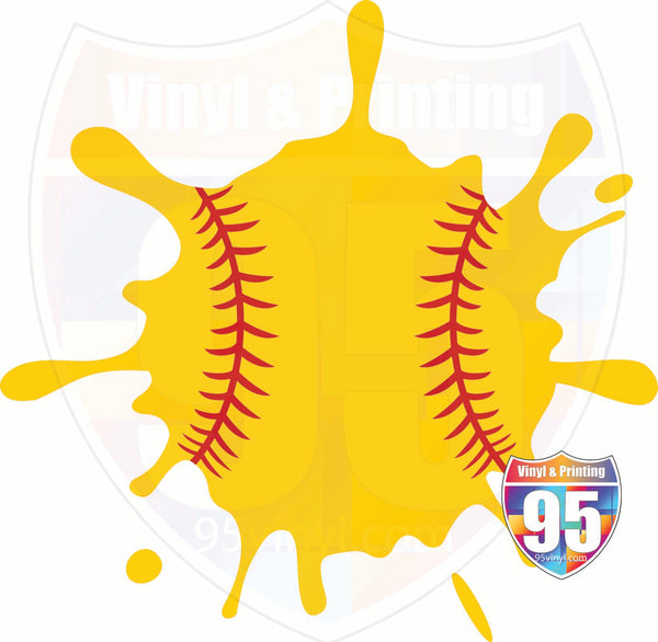 Softball Splat Heat(Iron On) Transfer or Sublimation Transfer