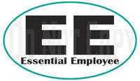 Essential Employee Oval Decal