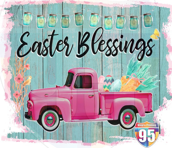 Easter Blessings Truck HTV or Sublimation Transfer