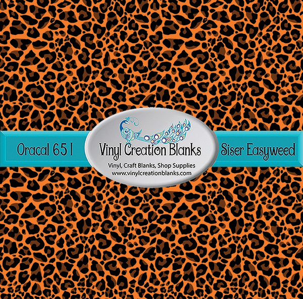 Fall Leopard Pattern Permanent Self Adhesive Vinyl or Heat Transfer Vinyl for All Vinyl Cutters