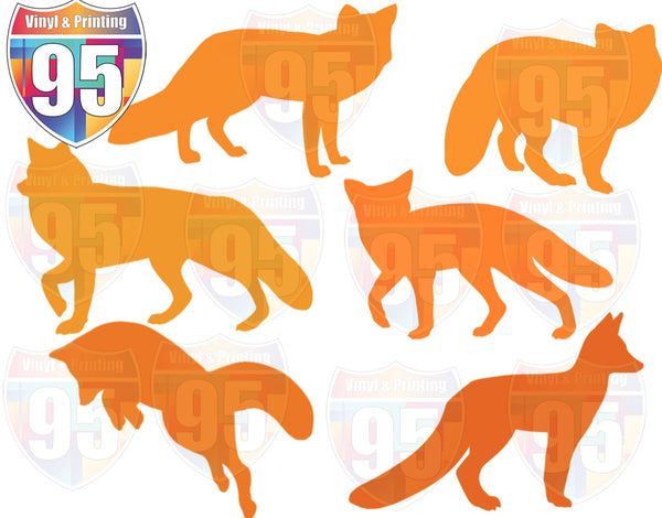 Fox Silhouettes SVG Bundle Digital File