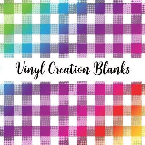 Bright Rainbow Buffalo Plaid Vinyl