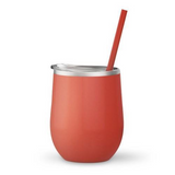 Coral 12 oz Double Wall Steel Wine Tumbler