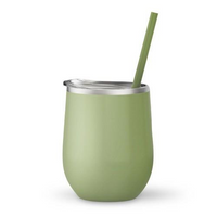 Matcha 12 oz Double Wall Steel Wine Tumbler