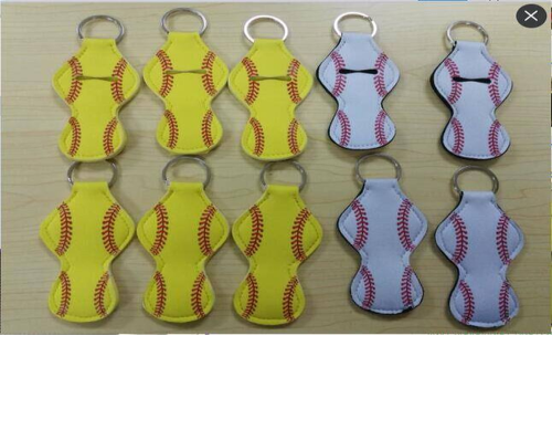 Keychain Baseball or Softball Lip Balm Holder