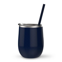 Midnight Navy 12 oz Double Wall Steel Wine Tumbler
