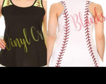 Baseball or Softball Racerback Tank