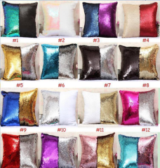 Sequin Mermaid Pillowcase, Sequin Pillow Case for Sublimation