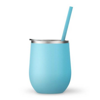 Seafoam 12 oz Double Wall Steel Wine Tumbler