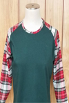 Plaid Raglan