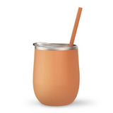 Peach 12 oz Double Wall Steel Wine Tumbler