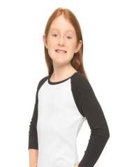Baby Rib Long Sleeve Girls(Slim) Raglan Tee
