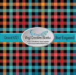 Gobble Plaid Self Adhesive or Heat Transfer Vinyl