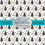 Reindeer and Trees Patterned Vinyl or HTV for all Vinyl Cutters