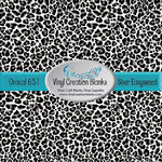 Gray Leopard Print Pattern Outdoor Vinyl or HTV
