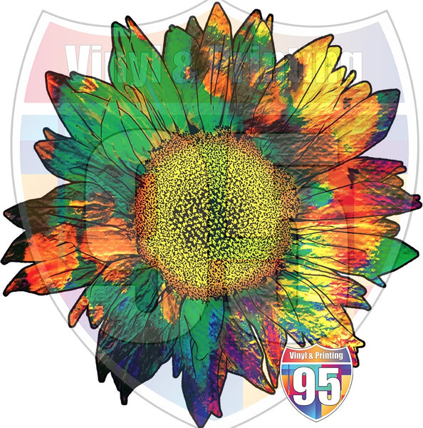 Groovy Sunflower Heat(Iron On) Transfer or Sublimation Transfer